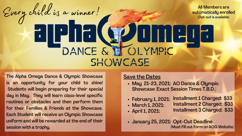 Olympic Showcase Flyer