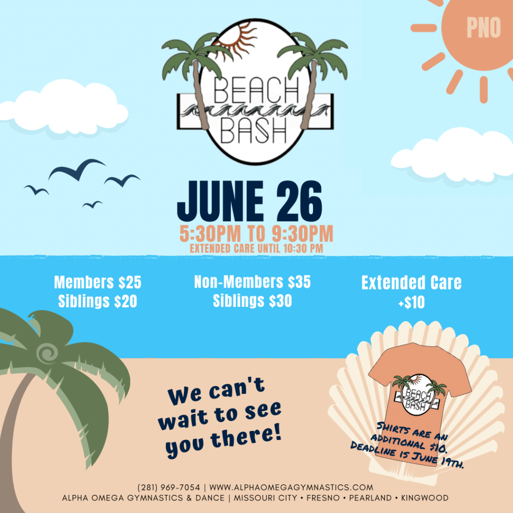 June 2021 Beach Bash PNO