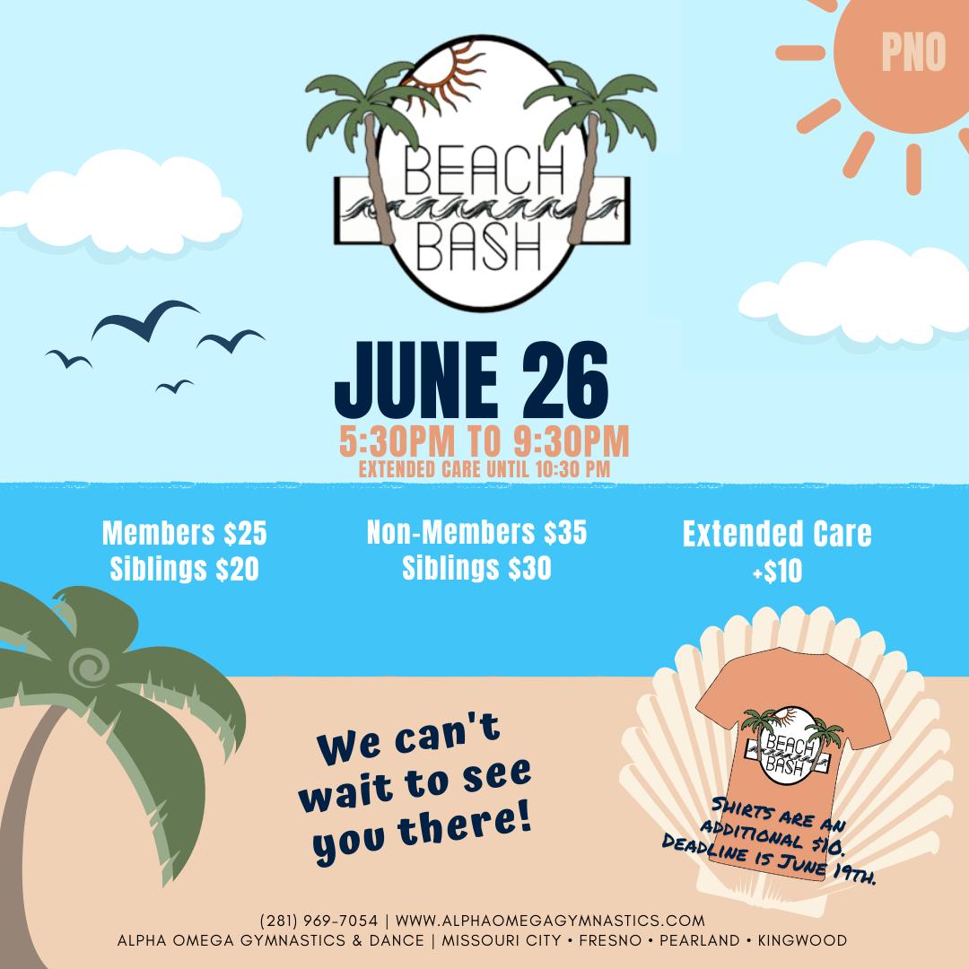 June 2021 Beach Bash PNO